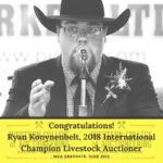 Congratulations to Ryan Konynenbelt, 2018 International Champion Livestock Auctioneer