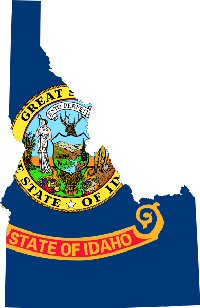 Idaho Flag & Map