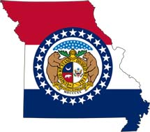 Missouri Flag & Map
