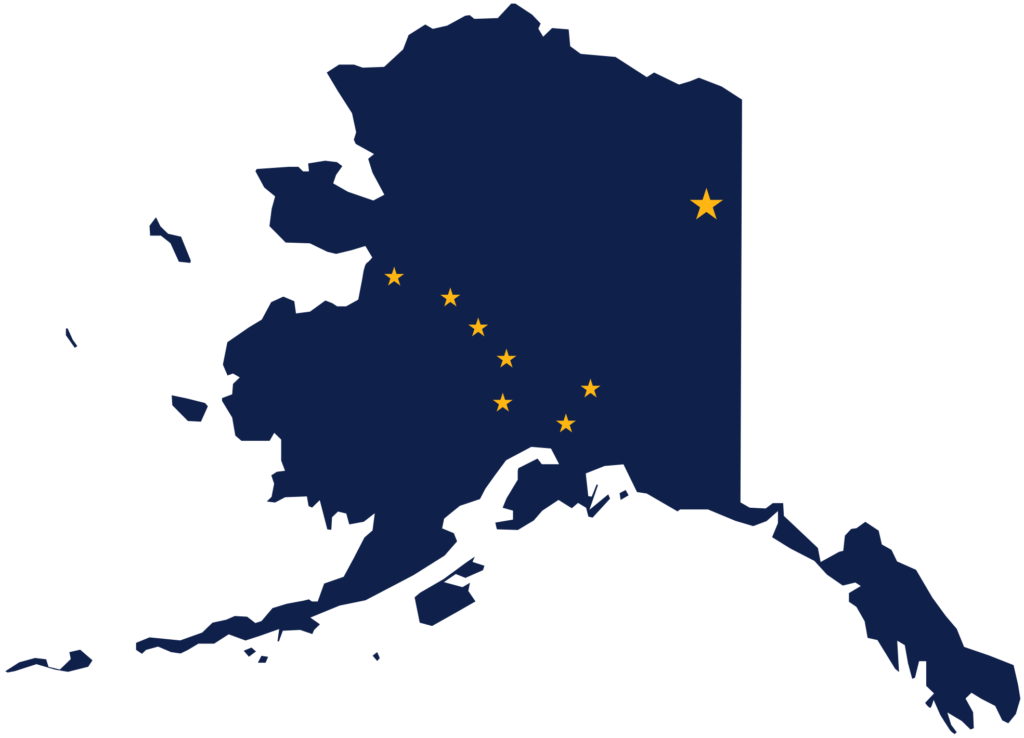State Flag & Map of Alaska