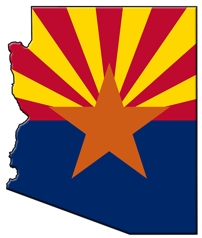 Arizona Flag and Map