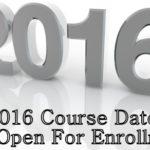2016 Course enrollment open
