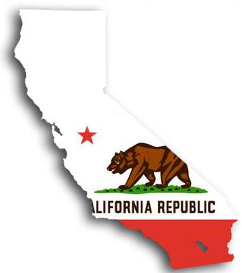 California Flag & Map