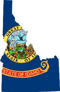 Idaho Flag & Map
