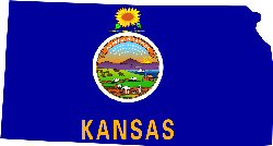 State Flag & Map of Kansas
