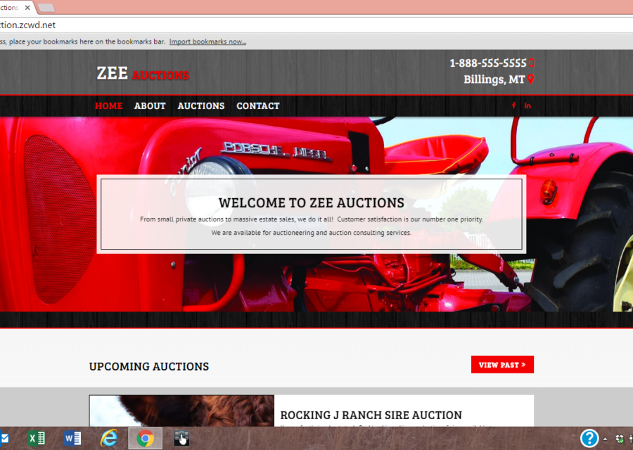 Need an Auction Company Website?