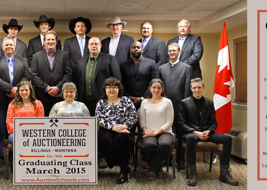 WCA March 2015 Graduating Class