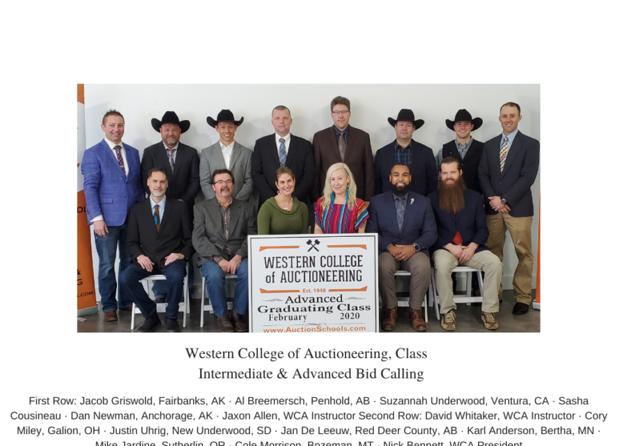 2020 WCA Intermediate & Advanced Auction Course