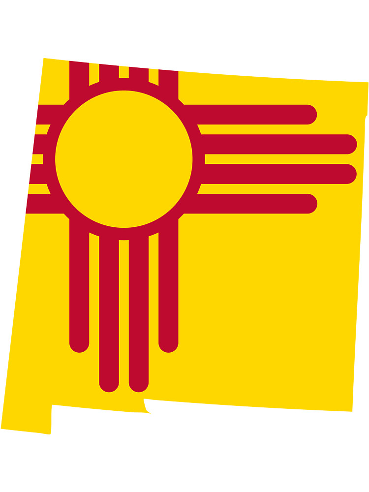 New Mexico Flag & Map