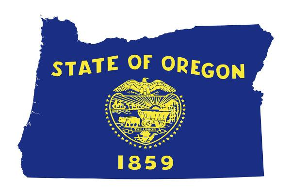 State Flag and Map of Oregon